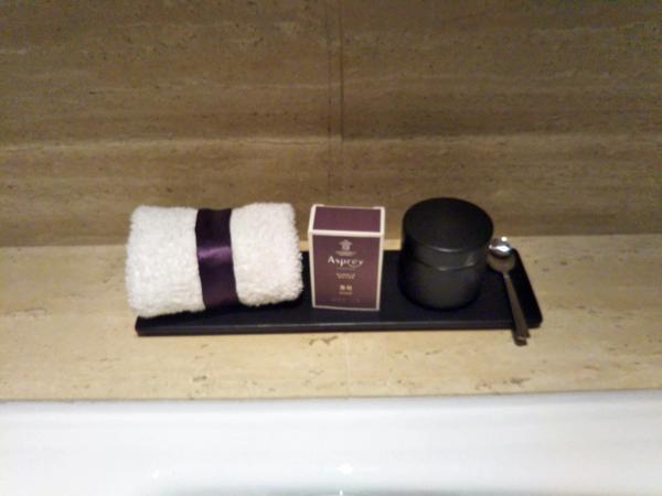 ポイントで無料旅行! お風呂のアメニティ 香港の旅行記|リッツカールトン香港にSPGアメックスで無料宿泊! 香港旅行