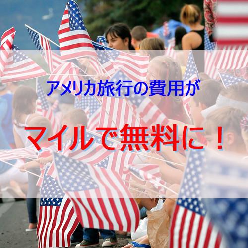 ポイントで無料旅行! アメリカマイルで無料 アメリカ旅行の費用がマイルで無料に!かかるのはディズニー代のみ! マイルで旅行!