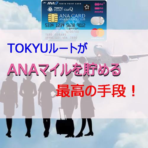 ポイントで無料旅行! TOKYUルート TOKYUルートがANAマイルを貯める最高の手段! TOKYUカード